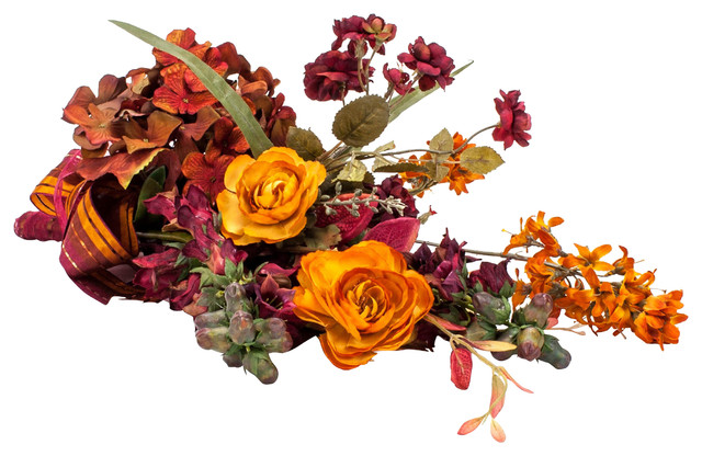 Fall Bouquet Arrangement traditional-artificial-flowers-plants-and-trees