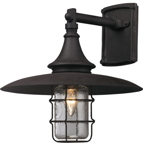 Industrial Outdoor Wall Sconces : Troy Lighting B3221 Allegheny 1 Light 13