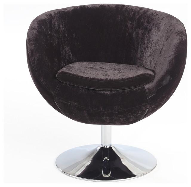 Black 360 degree swivel leisure chair modern armchairs for Modern swivel accent chair