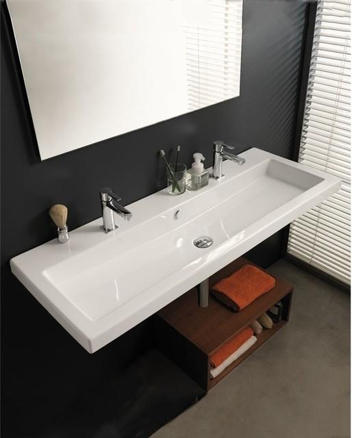 large square sink by tecla modern bathroom sinks philadelphia