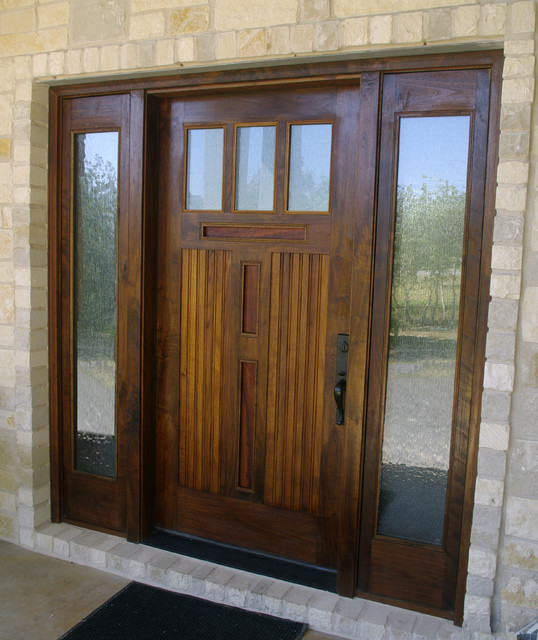 moore residence eclectic front doors austin by