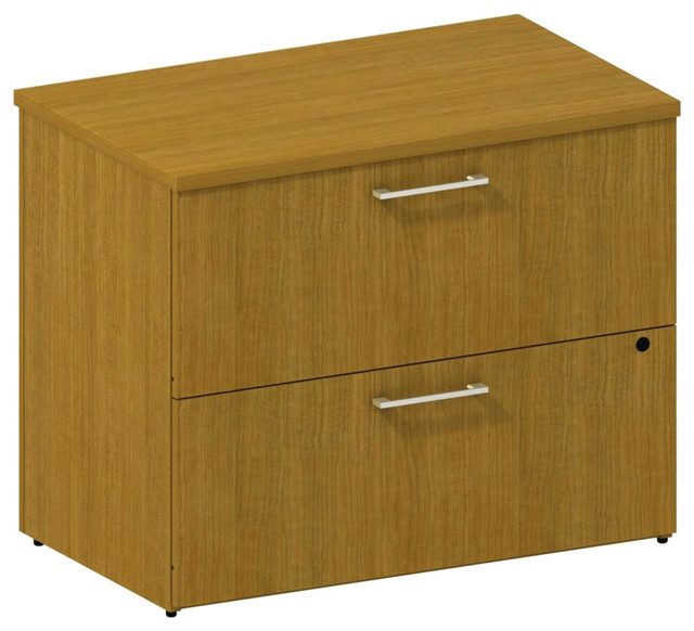 Bush 300 Series 2-Drawer Lateral File in Modern Cherry modern-filing-cabinets