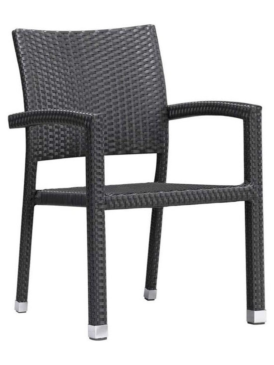 Boracay Dining Chair By Zuo Modern - Featuring an aluminum frame covered with Dark Brown synthetic weave,the stylish Modern Boracay Wicker Patio Garden Chair is the perfect addition to any outdoor living space. The weather resistant wicker chair provides comfort while giving your patio and garden space a modern,classy look.