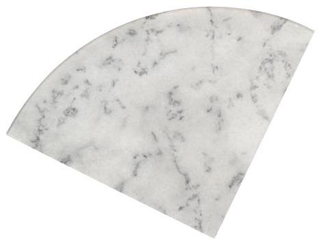 Tiger Carrara Marble Bathroom Corner Shelf Traditional