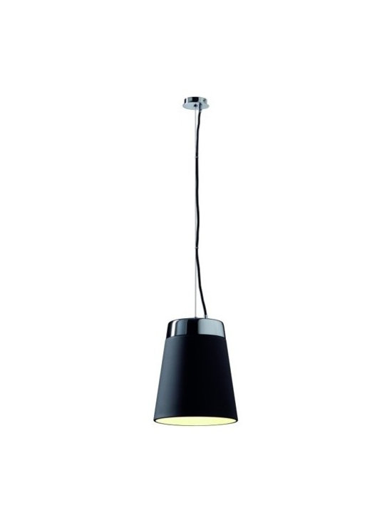 SLV Lighting - SLV Lighting | Cone Shade Pendant Light - Design by SLV Lighting.The Cone Shade Pendant Light features a clean design and lets you decide on the type of lighting you want. Offered in black and white shades. The black shade directs the light downwards for a more concentrated pool of light while the white shade provides a diffused glow for more ambient lighting. Choose the color that is right for you or buy multiple and mix and match for the ideal lighting design. Made of steel and glass.