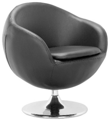 Bounce Armchair, Black contemporary-accent-chairs
