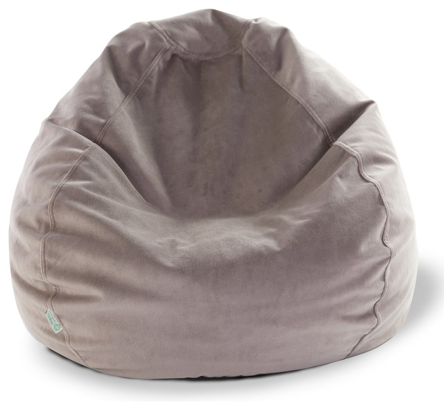 Indoor Steel Faux Suede Small Bean Bag contemporary-chairs