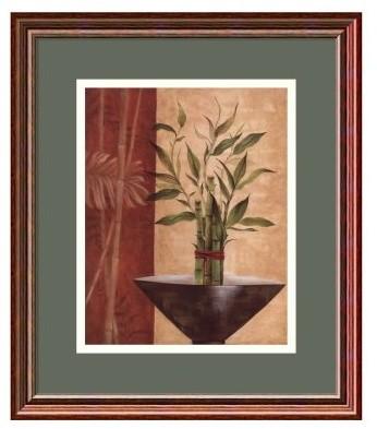 Lucky Bamboo I Framed Wall Art by Eugene Tava - 13.47W x 15.47H in. modern-artwork