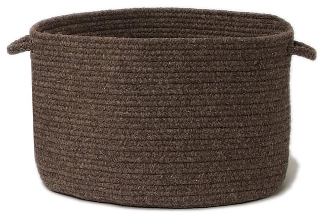 "Shear Natural, Rural Earth Utility Basket, 14""X10"" contemporary-baskets"