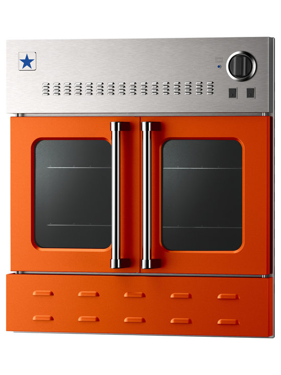 "BlueStar 36"" Single Wall Oven- Gas Oven - Pure Orange (RAL 2004)"