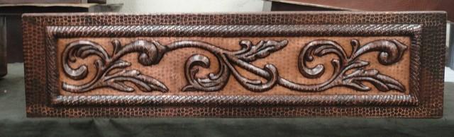 Custom Two-tone Scroll SoLuna Copper Kitchen Sinks rustic-kitchen-sinks