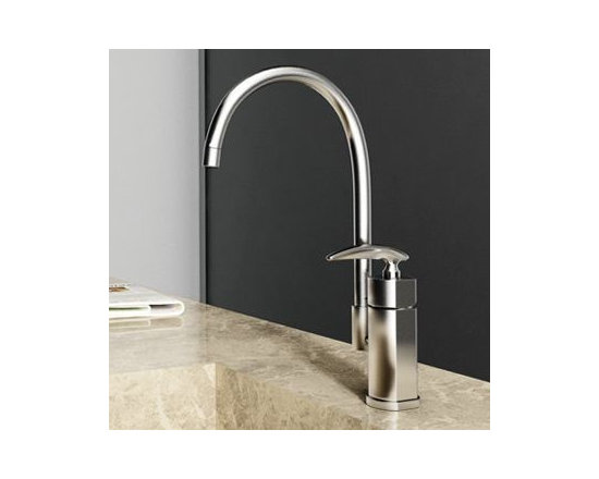 Satin Brushed Nickel Kitchen Faucet - Features: