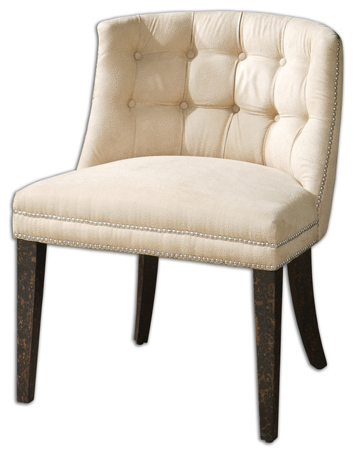Trixie tufted slipper chair traditional living room chairs by