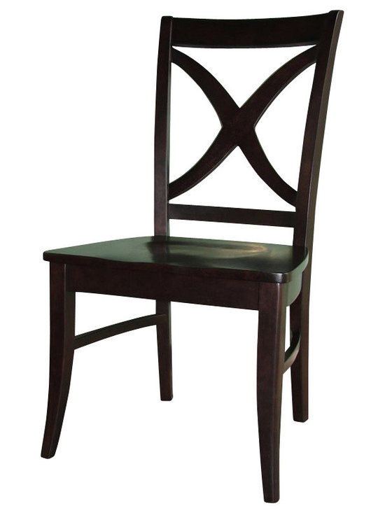 International Concepts - International Concepts Cosmopolitan Salerno Chair in Dark Walnut (set of 2) - International Concepts - Dining Chairs - C3414P
