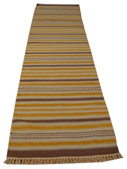 2.5'x10' Oriental Rug Runner Hand Woven Striped Durie Kilim Sh2953 rugs