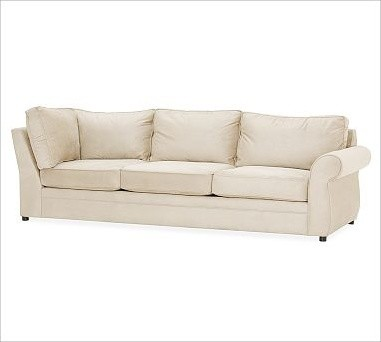 Pearce Upholstered Right Arm Return Sofa, Down-Blend Wrap Cushions, everydaysued traditional-sofas
