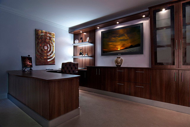 Conquest Bespoke Walnut Wood Study Home Office