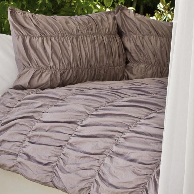 Ruffle Textured Duvet Cover, The Sutter Purple modern-duvet-covers-and-duvet-sets