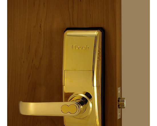 1TouchIQ2 Gold Biometric Door Lock - 1TouchIQ2 in polish brass is modern and sleek that will give a door the style it needs to fit in with your home or office.