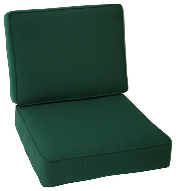 Sunbrella Outdoor Universal Patio Furniture Club Chair Cushions Forest Green