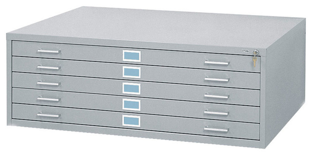 "... Steel Flat File for 36"" x 48"" Documents - Grey modern-filing-cabinets"