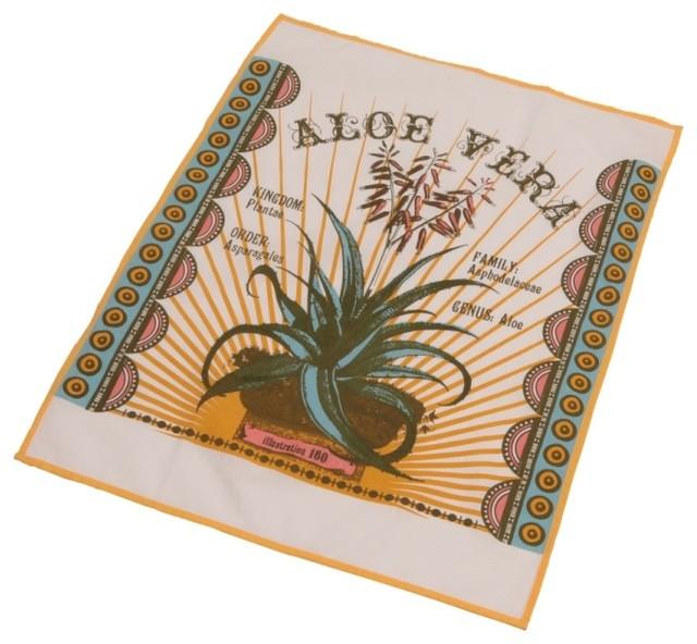 Botanica Tea Towel, Aloe Vera eclectic-dish-towels