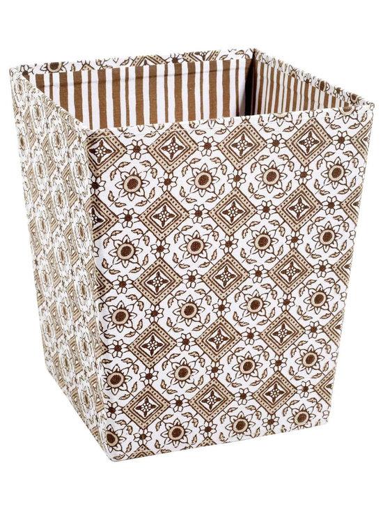 Foldable Waste Basket, Sand, Large -
