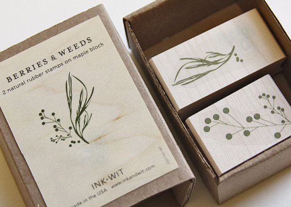 Berries & Weeds Stamp Set by Ink + Wit contemporary-accessories-and-decor