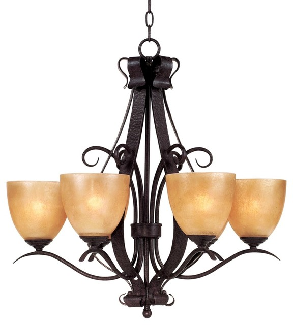 Country - Cottage Modella Collection Six Light Chandelier traditional-chandeliers