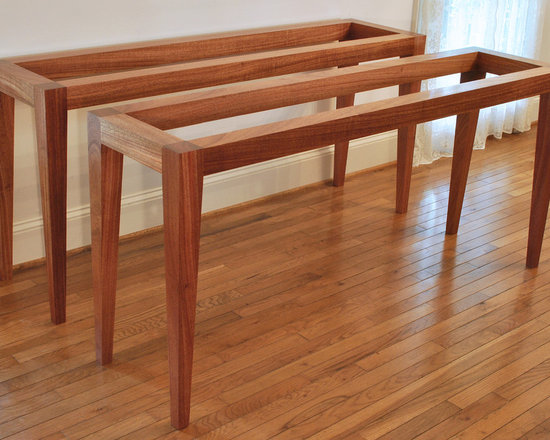Mahogany & Glass Console Table - If you'd like to order one or more of these tables, I recommend sourcing the glass tops locally, to save shipping costs, as is the case with these two tables, ready for delivery.