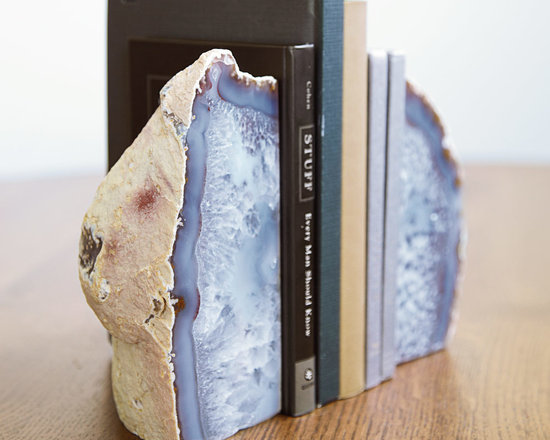 Large Agate Bookends -