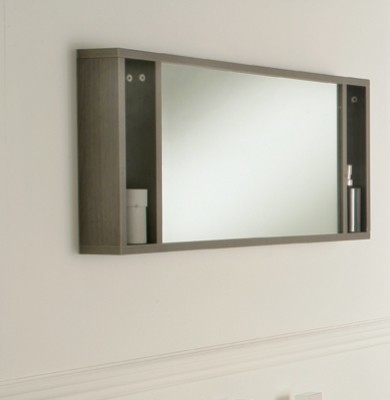 oviedo 900mm mirror with shelves modern bathroom mirrors london