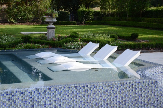 A Wet and Wild Summer Contemporary Outdoor Chaise