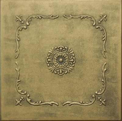 R 43 Styrofoam Ceiling Tile 20x20 - Antique Brass  wallpaper