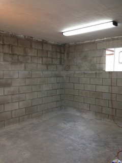 Ideas For Office Bathroom In A Concrete Block Building