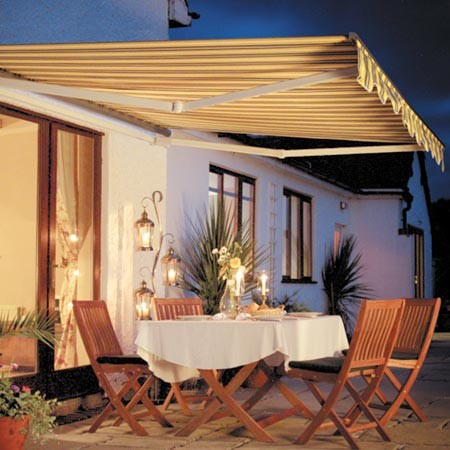 Retractable Awnings with Sunbrella Fabric - Traditional ...