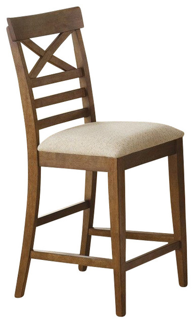 Counter Height X Back Chairs : ... Counter Height Chair w/ X Back - Traditional - Bar Stools And Counter