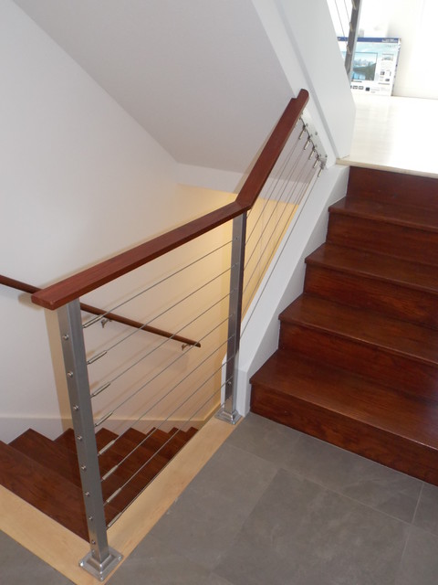 Cable Rail modern-staircase