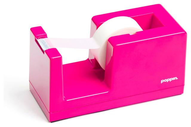 Tape Dispenser Pink Modern Desk Accessories