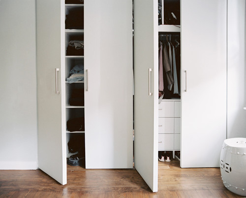Like your closet doors - how are hinges attached?