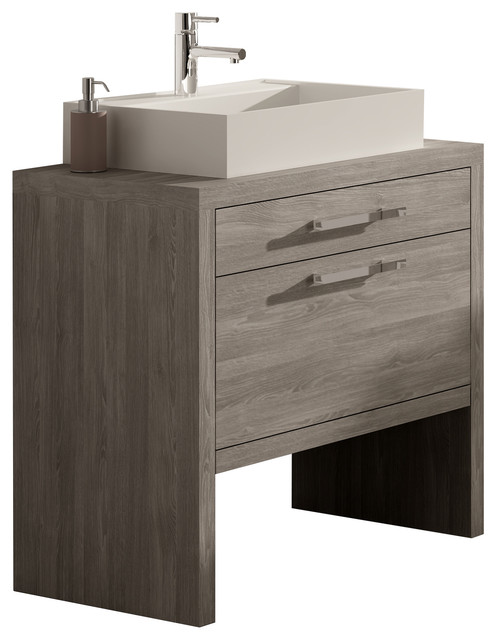 Montreal Oak Bathroom Vanity 24 Contemporary Bathroom Vanities And