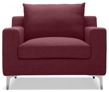 Sloan Accent Chair Cranberry Fabric Modern Armchairs