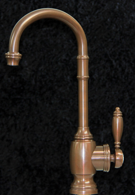 Custom designed by Dino, Waterstone Prep Faucet in weathered copper traditional-bar-faucets