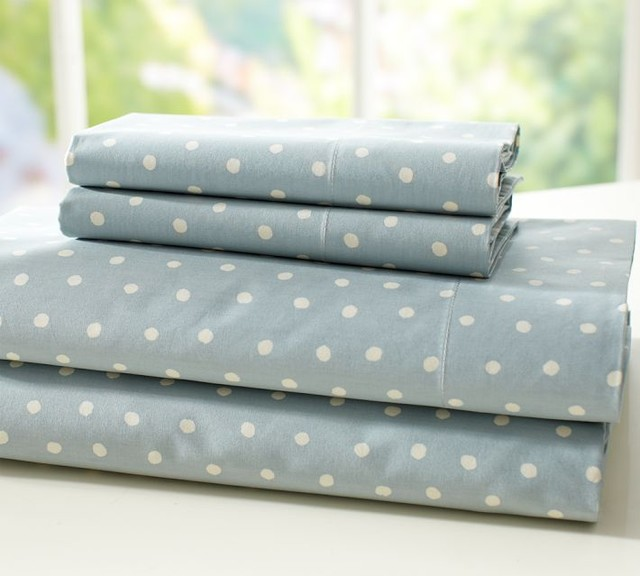 Polka Dot Organic Sheet Set Contemporary Sheet And