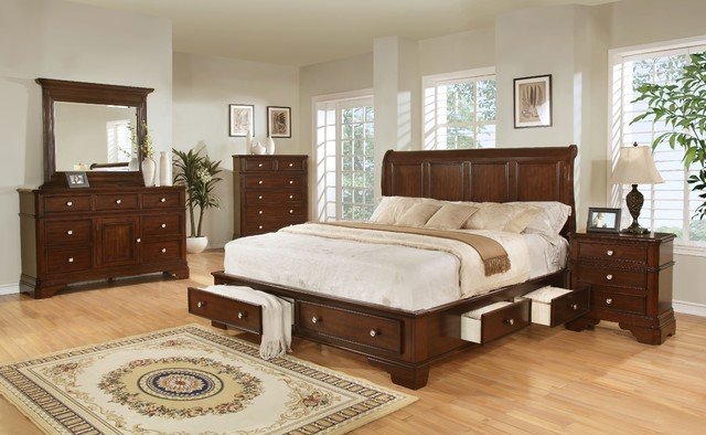 lifestyle b3185 king storage bedroom set transitional