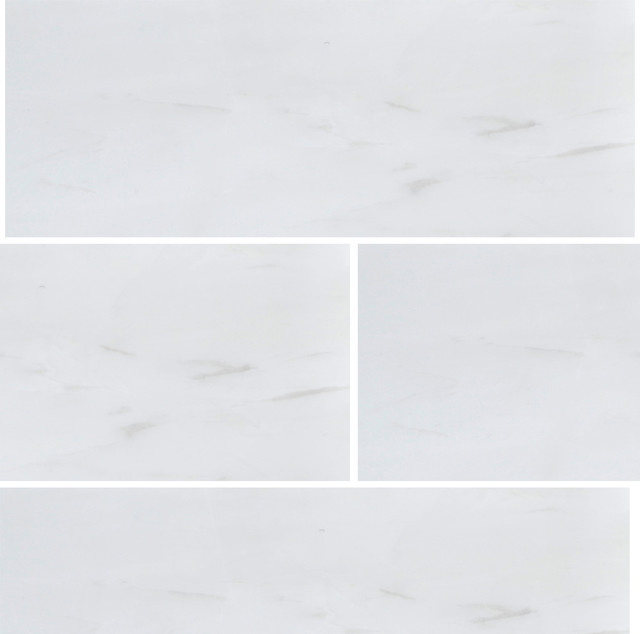 Bianco Dolomiti 3x9 Polished Marble Tile - Contemporary - Tile - by All Marble Tiles