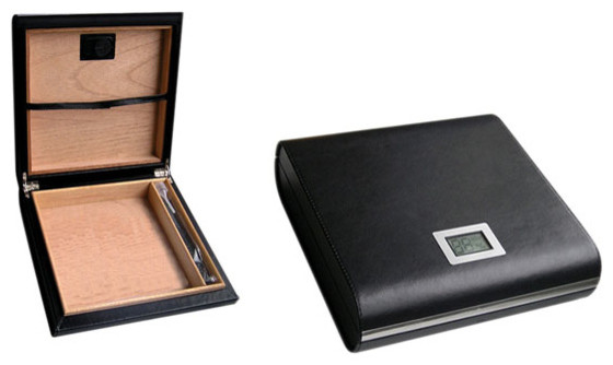 Aspen Leather Travel Humidor With Digital Hygrometer contemporary-wine ...