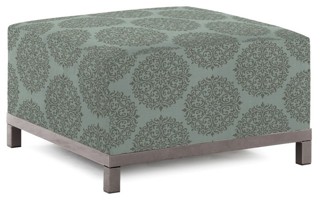 Medallion Teal Axis Ottoman - Titanium Frame contemporary-footstools-and-ottomans