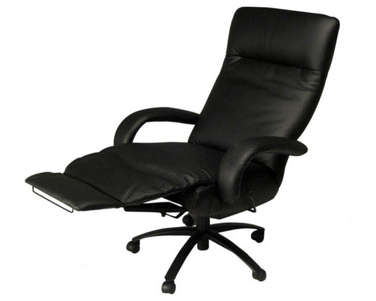 Kiri Executive chair Recliner - Bestseller! Swivel executive chair recliner in luxurious leather stocked in black or white. Other colors available by special request.