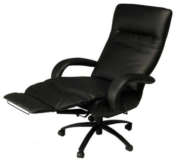 executive recliner office chair. high back leather executive